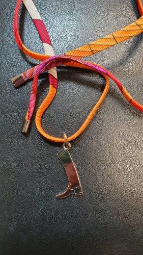 Hermès Cadena de cuentas multicolor Seda