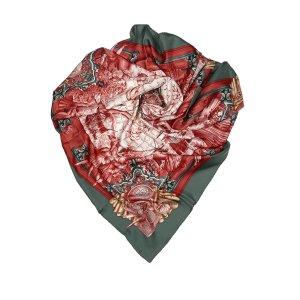 Hermès Sjaal donkergroen Zijde