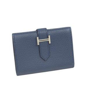 Hermès Tarjetero azul Cuero
