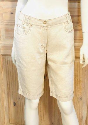 Hermès Denim Shorts cream cotton