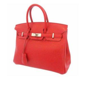 Hermès Handbag red leather