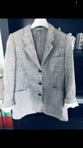 Hermès Blazer stile Boyfriend grigio chiaro-bianco