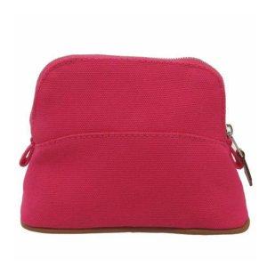 Hermès Torebka typu worek różany Bawełna