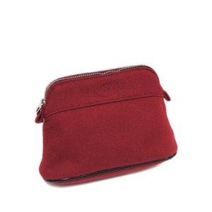 Hermès Torebka typu worek czerwony Wełna