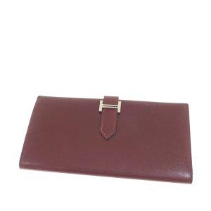 Hermès Wallet bordeaux leather