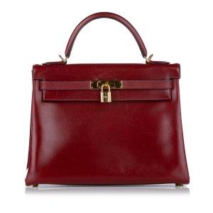 Hermès Sacoche rouge cuir
