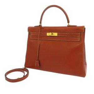 Hermès Tornister brązowy Skóra