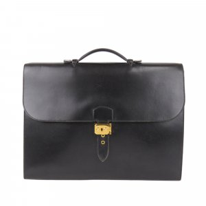 Hermès Business Bag black leather