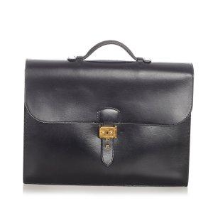 Hermès Business Bag black leather