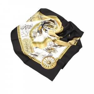 Hermes Bull and Mouth Silk Scarf