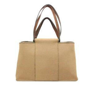 Hermes Cabag Canvas Handbag
