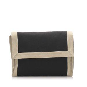 Hermes Canvas Clutch Bag