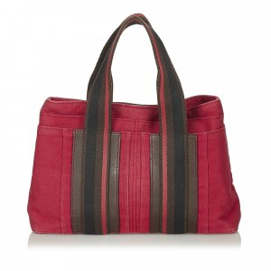 Hermes Canvas Handbag