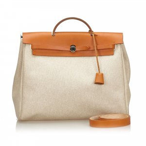 Hermes Canvas Herbag MM Handbag