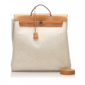 Hermes Canvas Herbag MM Satchel