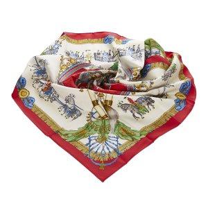 Hermes Caparacons de la France et de lInde Silk Scarf