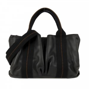 Hermès Satchel black leather
