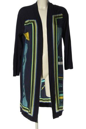 Hermès Cardigan blue-primrose mixed pattern casual look