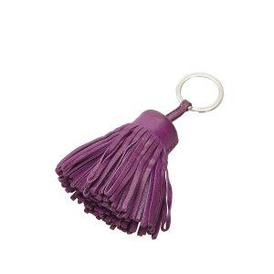 Hermès Llavero púrpura Cuero
