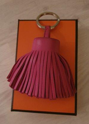 Hermès Key Chain pink leather