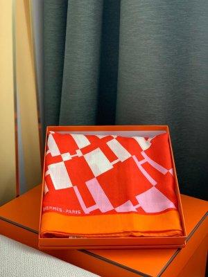 Hermès Cashmere Scarf orange cashmere