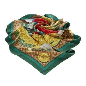 Hermes Casques et Plumets Silk Scarf