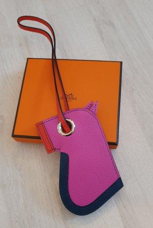 Hermès Sleutelhanger veelkleurig Leer
