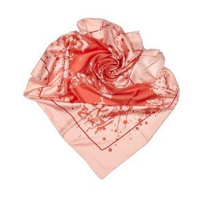 Hermès Sjaal rosé Zijde