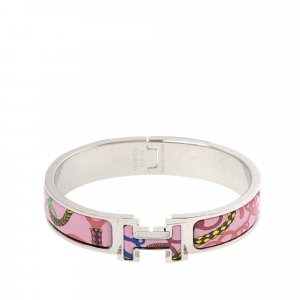 Hermès Bracelet pink real silver