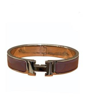 Hermès Bangle czerwona jeżyna-srebrny