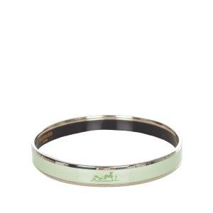 Hermès Bracelet pale green metal