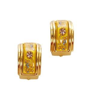 Hermès Orecchino oro Metallo