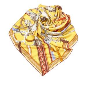 Hermès Bufanda amarillo Seda