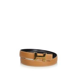 Hermès Cinturón marrón Cuero
