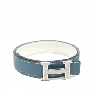 Hermès Ceinture bleu cuir