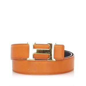 Hermès Belt orange leather