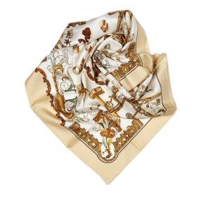 Hermes Copeaux Silk Scarf