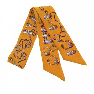 Hermes Cordages Twilly Silk Scarf