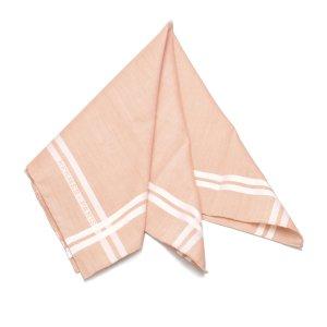Hermès Bufanda rosa claro Algodón