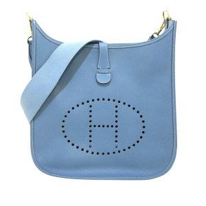 Hermès Shoulder Bag light blue leather