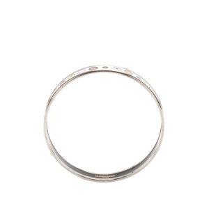Hermès Pulsera blanco metal