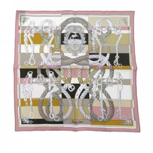 Hermès Scarf pink silk