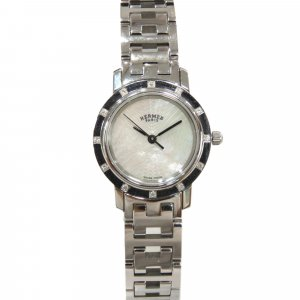 Hermès Watch silver-colored stainless steel