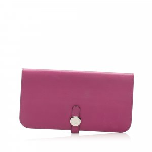 Hermes Dogon Leather Long Wallet