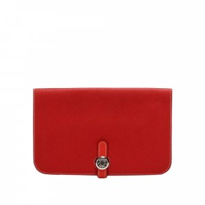 Hermès Wallet red leather