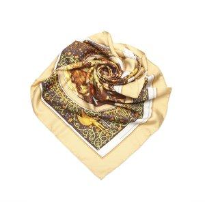 Hermès Scarf brown silk