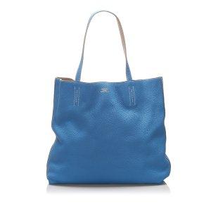 Hermès Torebka typu tote niebieski Skóra