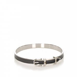 Hermès Braccialetto sottile nero Metallo
