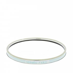 Hermès Braccialetto sottile bianco Metallo