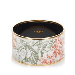 Hermès Bransoletka biały Metal